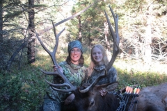 Amy and June LePage with Amy's 2016 elk