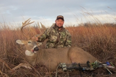 Mike Prescott 2016 Kansas buck died of a ruptured heart via muzzy tipped arrow at 36 yards on public WIHA area