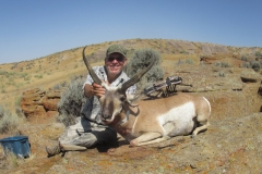 George Kamp 20 inch antelope from a ground blind at water - August 2017
