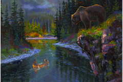 Into the North Fork-Allen Jimmerson Painting