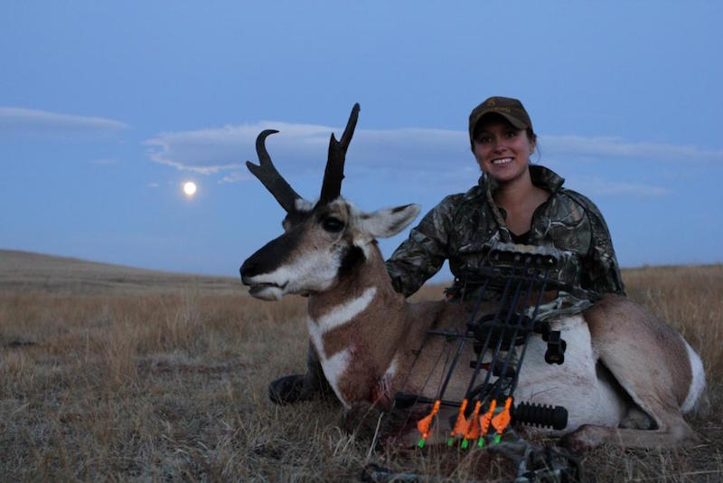 Ashley Hartsook with her 2012 Montana antelope. It's her first ever antelope