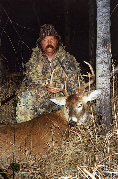 Marlon Clapham with an old timer buck