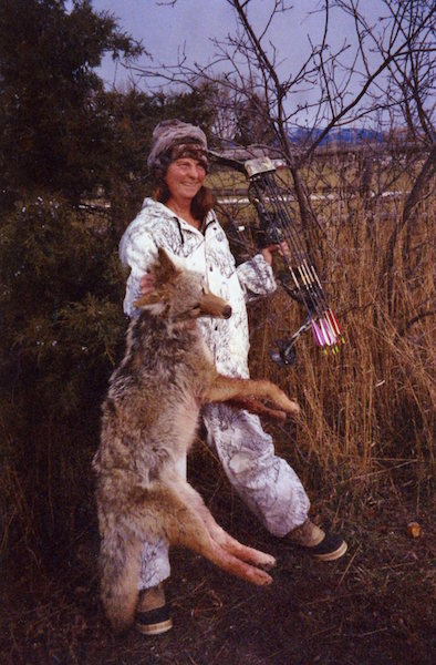 Merri Clapham with a nice coyote