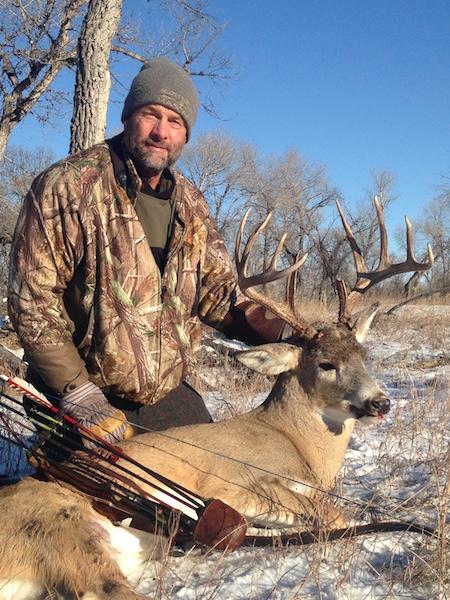 Thanksgiving day buck for Scott Koelzer! Schafer silver tip zwickey head 15 yd shot