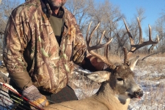 Thanksgiving day buck for Scott Koelzer! Schafer silver tip zwickey head 15 yd shot
