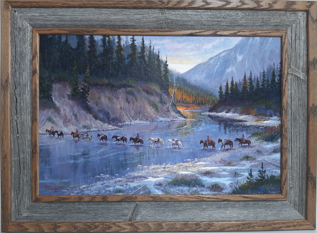 "Allen Jimmerson Print ""Crossing Big River"""